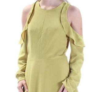 RACHEL ROY GREEN COLD SHOULDER L/S DRESS SIZE 4